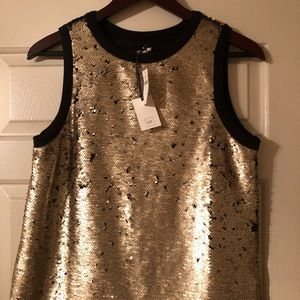 Holiday sequin tank NWT
